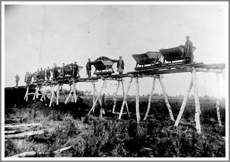 A transzszibériai vasút építése kézi erővel történt