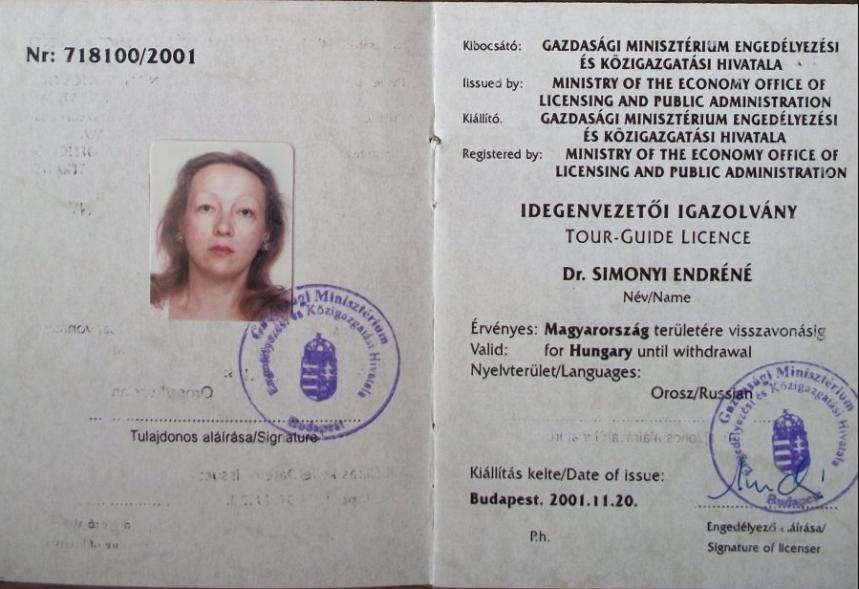 Orosz anyanyelvű idegenvezető Szentendrén